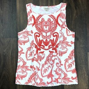 Lucky Brand Top XS Embroidered Sleeveless Blouse